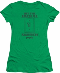 Psych juniors t-shirt Jackal Switch kelly green