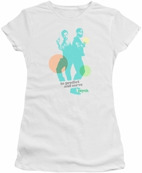 Psych juniors t-shirt Predict And Serve white