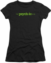 Psych juniors t-shirt The Psychic Is In black