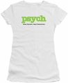 Psych juniors t-shirt Title white