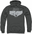 Psych pull-over hoodie Fist Bump adult charcoal