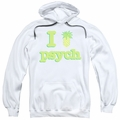 Psych pull-over hoodie I Like Psych adult white
