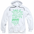 Psych pull-over hoodie Pineapple adult white