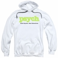 Psych pull-over hoodie Title adult white