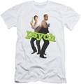 Psych slim-fit t-shirt Hands Up mens white