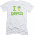 Psych slim-fit t-shirt I Like Psych mens white