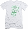 Psych slim-fit t-shirt Pineapple mens white