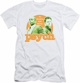 Psych slim-fit t-shirt Predictable mens white