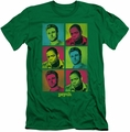 Psych slim-fit t-shirt Squared mens kelly green
