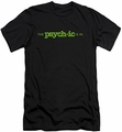 Psych slim-fit t-shirt The Psychic Is In mens black