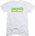 Psych slim-fit t-shirt Title mens white