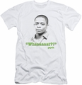 Psych slim-fit t-shirt Whaaaaaat?! mens white