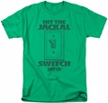 Psych t-shirt Jackal Switch mens kelly green