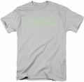 Psych t-shirt Neon Sign mens silver