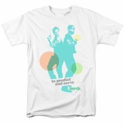 Psych t-shirt Predict And Serve mens white