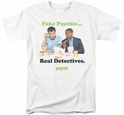 Psych t-shirt Take Out mens white