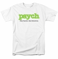 Psych t-shirt Title mens white