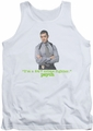 Psych tank top 247 mens white