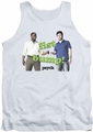 Psych tank top Bump It mens white