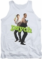 Psych tank top Hands Up mens white