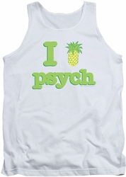 Psych tank top I Like Psych mens white