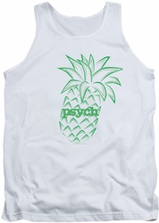 Psych tank top Pineapple mens white