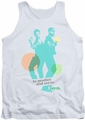 Psych tank top Predict And Serve mens white
