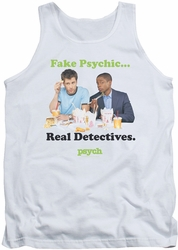 Psych tank top Take Out mens white