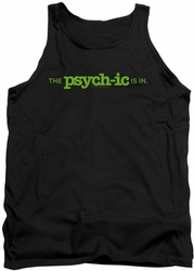 Psych tank top The Psychic Is In mens black
