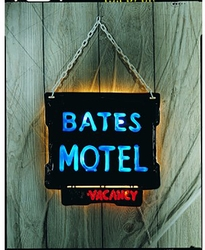 Psycho Movie Bates Motel Light Up Sign adult accessory