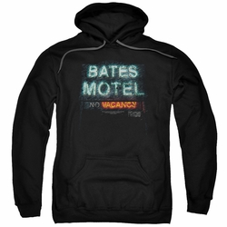 Psycho pull-over hoodie Bates Motel Distressed adult black