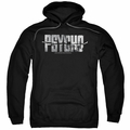 Psycho pull-over hoodie Logo Cutout adult black