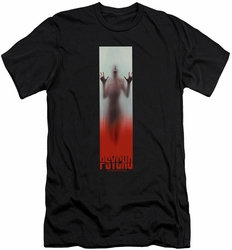 Psycho slim-fit t-shirt Poster mens black