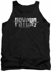 Psycho tank top Logo Cutout mens black