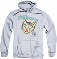 Puss N Boots pull-over hoodie Cats Pajamas adult athletic heather