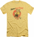Puss N Boots slim-fit t-shirt Purrfection mens banana