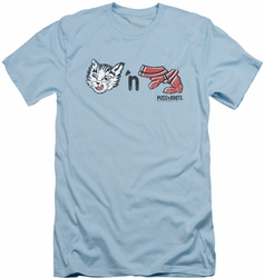 Puss N Boots slim-fit t-shirt Rebus Logo mens light blue