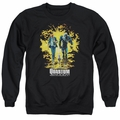 Quantum And Woody adult crewneck sweatshirt Explosion black
