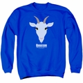 Quantum And Woody adult crewneck sweatshirt Goat Head royal blue