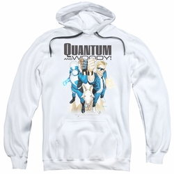 Quantum And Woody pull-over hoodie Characters adult white