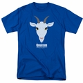 Quantum And Woody t-shirt Goat Head mens royal blue
