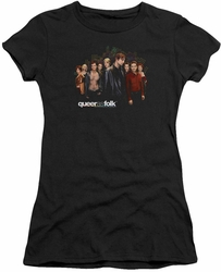 Queer As Folk juniors t-shirt Title black