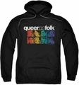 Queer As Folk pull-over hoodie Cast adult black