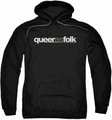 Queer As Folk pull-over hoodie Logo adult black