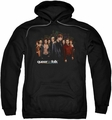 Queer As Folk pull-over hoodie Title adult black