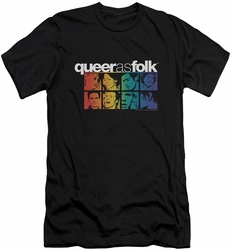 Queer As Folk slim-fit t-shirt Cast mens black