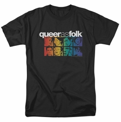 Queer As Folk t-shirt Cast mens black