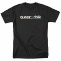 Queer As Folk t-shirt Logo mens black