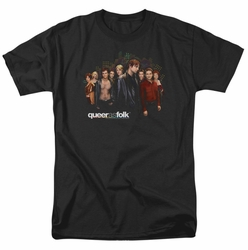 Queer As Folk t-shirt Title mens black
