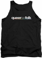 Queer As Folk tank top Logo mens black